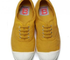 Tennis Bensimon lacets jaune