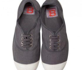 Bensimon toile lacets gris