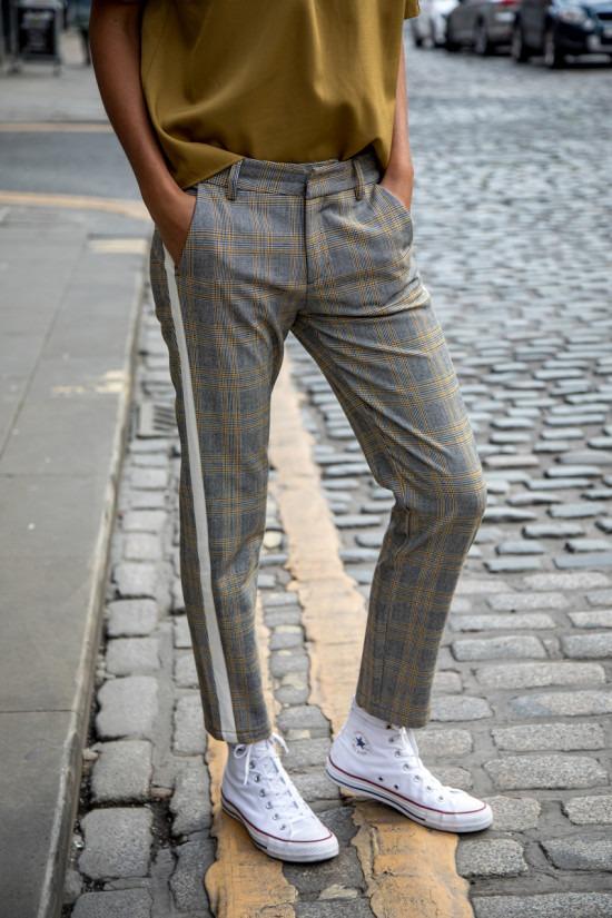 Pantalon toile Freeman Glencheck
